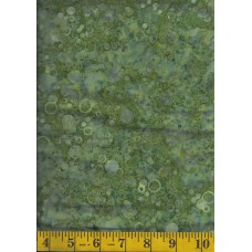 Cantik Batik 1004-710 Bubbles on Olive Green