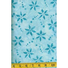 Cantik Batik CABA-1042-815 Turquoise Flowers & Dots on Light Turquoise