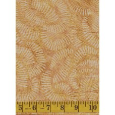 REMNANT - Clothworks Fresh Batiks Botanica III FB023-12 - Geometric Pattern on Tan Background - 9 x 22 Inches