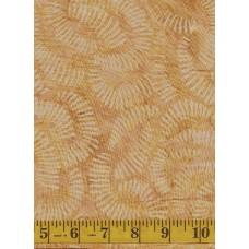 Clothworks Fresh Batiks Botanica III FB023-12 - Geometric Pattern on Tan Background
