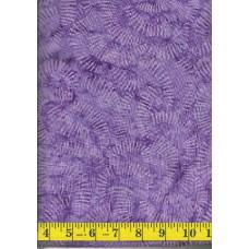 Clothworks Fresh Batiks Botanica III FB023-86 - Geometric Pattern on Purple Background