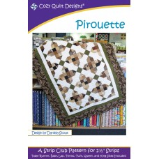 Pirouette pattern by Cozy Quilt Designs - Jelly Roll & Scrap Friendly