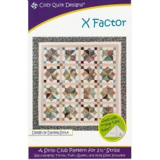 X Factor pattern by Cozy Quilt Designs - Jelly Roll & Scrap Friendly