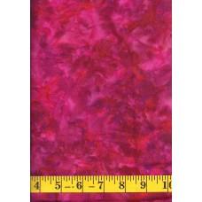 Fabrics That Care Batik 1375 Pink, Red & Purple Mottled Solid