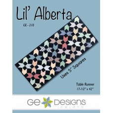 Lil' Alberta Pattern by GE Designs - Charm Square Friendly