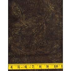 Island Batik Northern Woods 121723090 - Brown Pine Cones on Brown