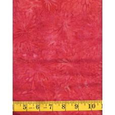 REMNANT - Island Batik Berry Christmas IKF13E-B2 Orange Pink Floral Starbursts on an Orange Pink Background