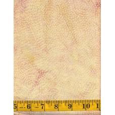 Island Batik Baker's Dozen Buns - Cream Pin Dot Swirls on a Cream  & Peach Background
