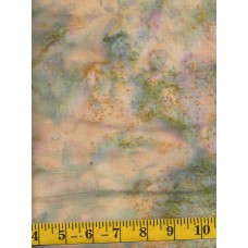 """Island Batik Countryside """"Weeds"""" - Peach, Green and Pink Mottled Solid"""