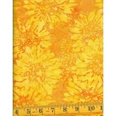 Island Batik Flower Fields 111516164 - Yellow Flowers on a Yellow Orange Background