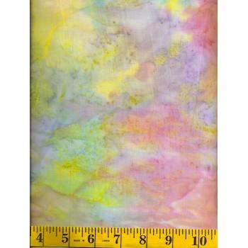 Island Batik Moonstone - Light Orange, Yellow, Green, Purple & Pink Mottled Solid