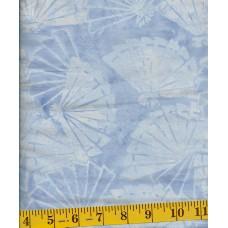 BOLT END - Island Batik Raindrops Keep Falling on my Head 121413113 Light Blue Fans on Blue