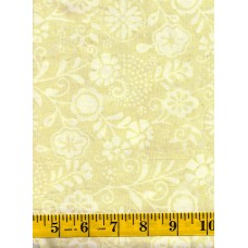 Marcus Brothers Batik 0869-0189 - White Floral Pattern on a Tan Background