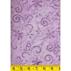 Maywood Batik MASB40-09 - Purple Floral Pattern