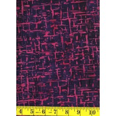 Princess Mirah Batik FM-3-9537 Bright Pink Static on Dark Navy/Purple