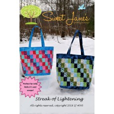 Streak of Lightening bag pattern by Sweet Jane's - Jelly Roll & Scrap Friendly