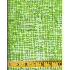 Timeless Treasures Tonga Batik B2265-LIME White Mesh Pattern on Lime