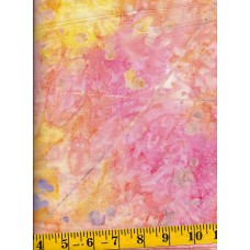 Timeless Treasures Tonga Batik B4019-SORBET Splatters on Peach, Pink, Orange & Yellow