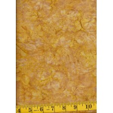 Timeless Treasures Tonga Batik B5313-GOLD Gold Flowers on a Gold & Tan Background