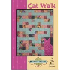Cat Walk pattern card by Villa Rosa Designs - Fat Quarter Friendly Pattern