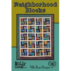 Neighborhood Blocks pattern card by Villa Rosa Designs - Fat Quarter Friendly Pattern