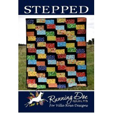 Stepped pattern card by Villa Rosa Designs - Fat Quarter Friendly