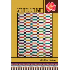 Striped Delight pattern card by Villa Rosa Designs - Jelly Roll Friendly