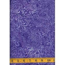 Wilmington Flourish Batik 22035-664 Feathers on Purple