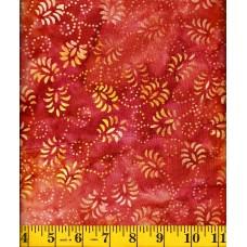 Wilmington Batik 22120-385 Red Yellow Dancing Leaves Batik