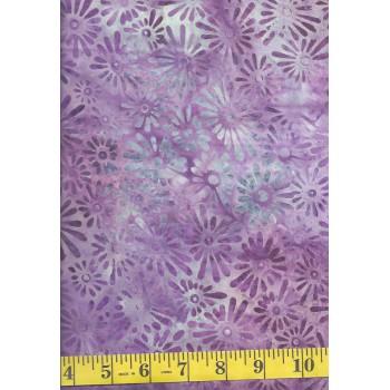 Wilmington Batik 22121-366 Pink & Purple Flower Field Batik