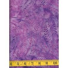 Wilmington Batik 22127-636 Purple Fern Leaves Batik