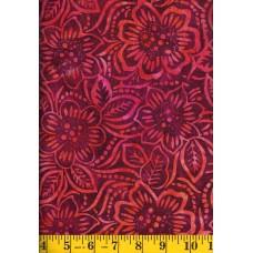 Wilmington Batik 22134-335 Red Dancing Flowers Batik