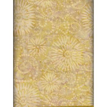 Wilmington Flower Burst Batik 22188-211 Tan, Cream & Gold