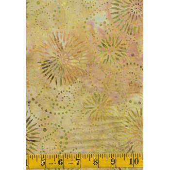 Wilmington Flower Burst Batik 22188-817 Peach, Cream, Green & Gold