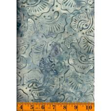Wilmington Wavy Fans Batik 22190-941 in Blue, Gray & Cream