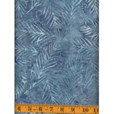 Wilmington Blue Delicate Fronds Batik 22191-447 - Blue/Gray/Purple