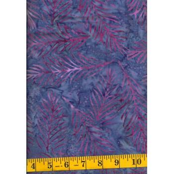 Wilmington Delicate Fronds Batik 22191-636 - Pink Fronds on Purple