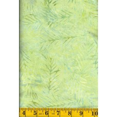 Wilmington Delicate Fronds Batik 22191-757 - Blue/Green Fronds on Light Green